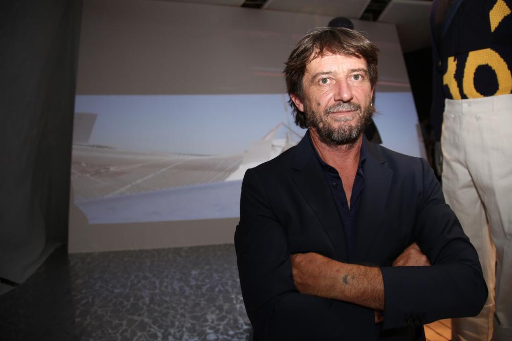 Foto Bianchi/Lo Debole Pitti immagine uomo edizione 92.  nella foto: Giovanni Soldini